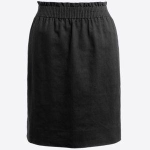 J. Crew Mercantile black sidewalk pull-on skirt